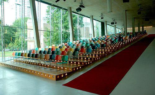 Kunsthal, by Rem Koolhaas by Wallpaper* magazine, via Flickr.  ramp, wide steps.
