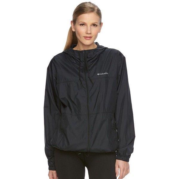 Womens black rain jacket