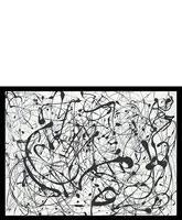 "Jackson Pollock ""Number 14:Gray "" Framed Print...east DIY painting?"