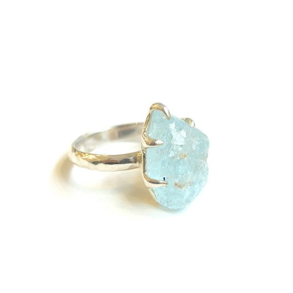 Raw Blue Topaz Ring