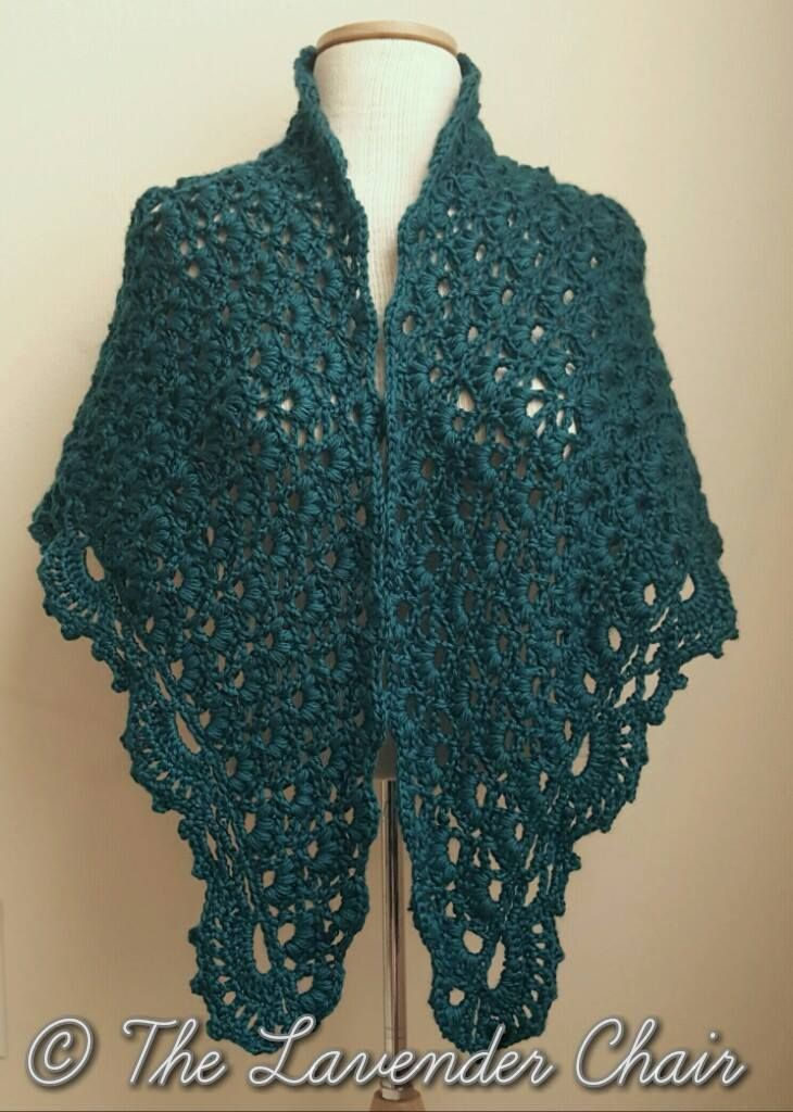 Daisy Fields Shawl - Free Crochet Pattern - The Lavender Chair 1