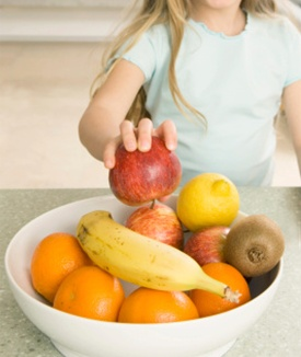 Fruits and veggies aren't just for your kids! To eat more fruit, buy a fruit bowl and fill it up after your trip to the grocery store each week. #EncourageAMom