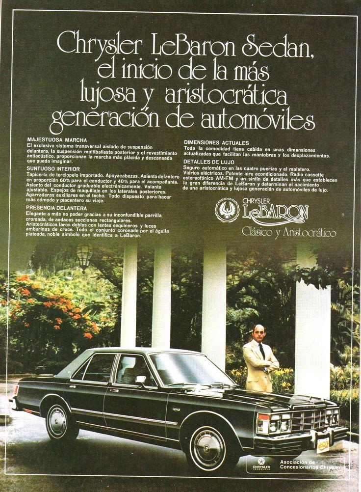 Reinaldo Herrera En Publicidad De Chrysler LeBaron 1978