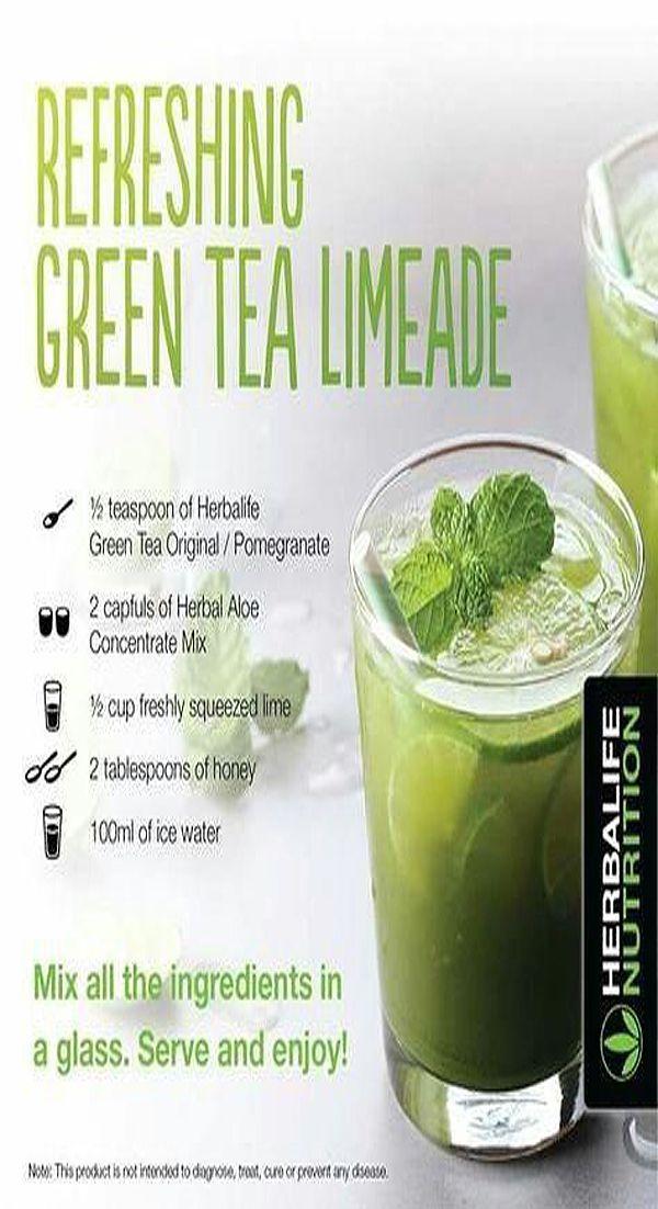 Green Tea Limeade | Herbalife shake recipes, Herbalife ...