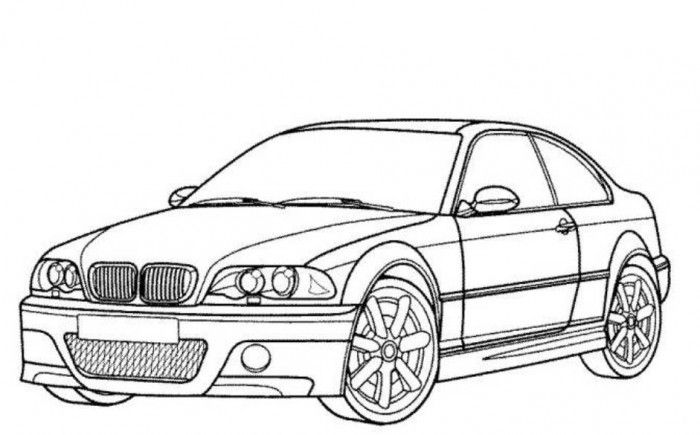 Bmw M3 Car Coloring Pages Printable