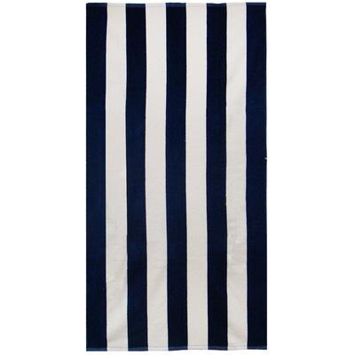 Textiles Plus Inc. Velour Cabana Stripe Beach Towel - BT3464 Cabana