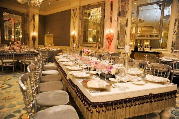 A table design at Shangri-La Bosphorus, Istanbul by KM Events