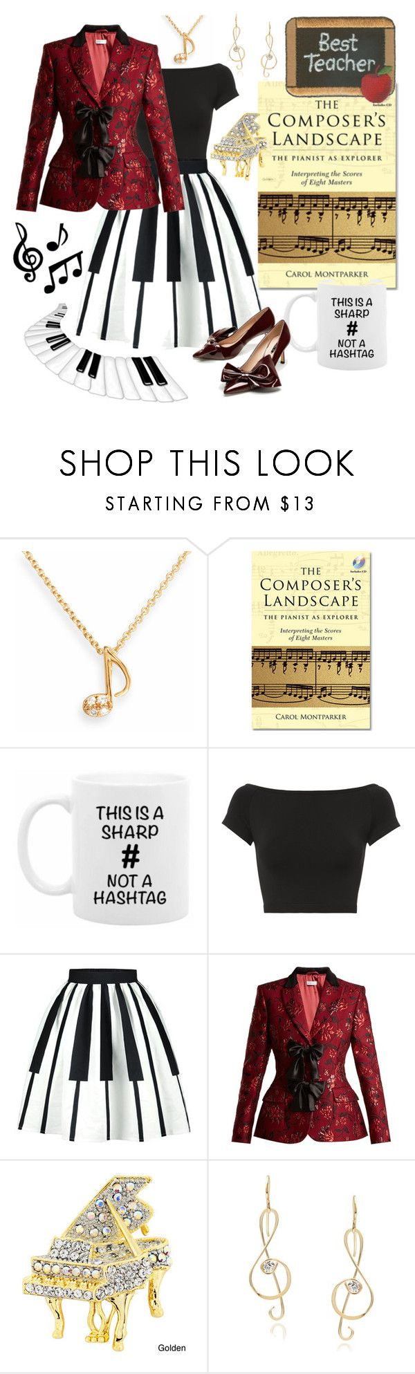 """""""Piano Teacher Outfit"""" by giovanina-001 ❤ liked on Polyvore featuring SOPHIE MILLER, Helmut Lang, Altuzarra and Journee Collection"""