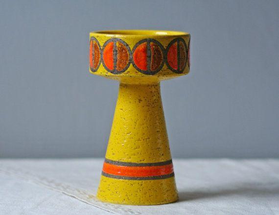 modern+yellow+candle+holder+/+Rosenthal+Netter+by+ModishVintage