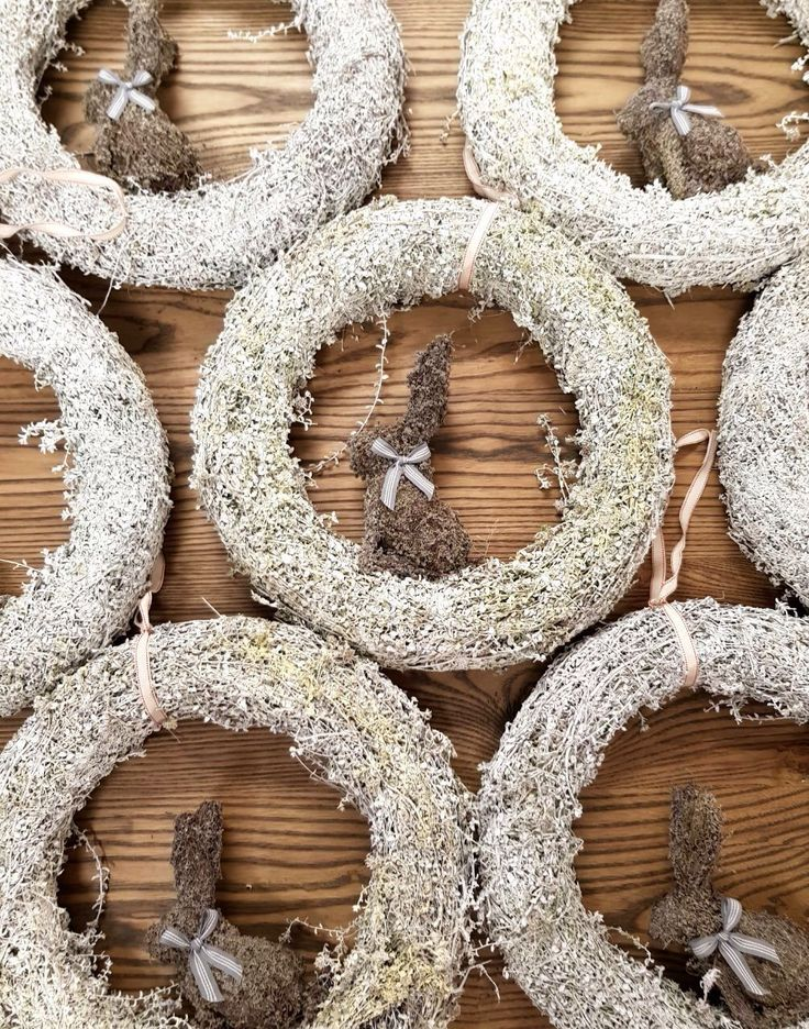 These Easter wreaths were wildly popular in store this year! They add just a touch of whimsy to your decor! #whimisicaldecor #whimsy #decor