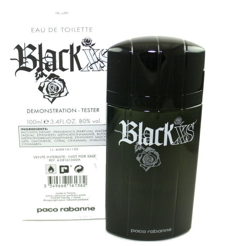 Black XS Eau De Toilette by Paco Rabanne For Men 100 ML in White Tester Box