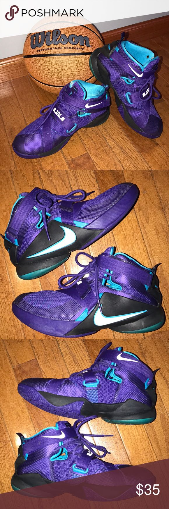 Nike Lebron James Soldier IX Basketball Shoes 7Y Nike High Top Basketball Shoes Lebron James Soldier IX Big boy youth size 7 Some wear, but lots of life left in these.  See pics!  Smoke free home. Nike Shoes Sneakers