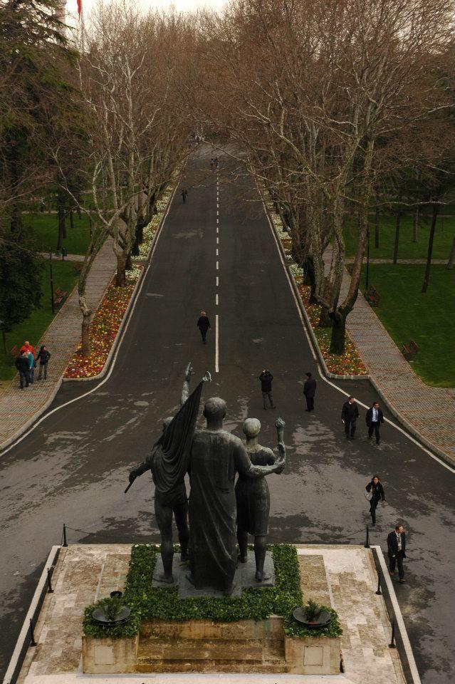 İstanbul Üniversitesi - Mavi Salon'dan Merkez Bahçe (Beyazıt Kampüsü)