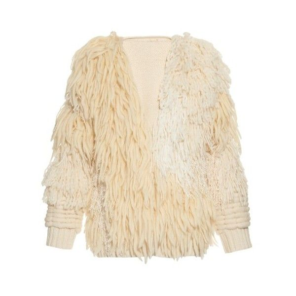 Adam Lippes Long-sleeved fringed bomber jacket ($3,280) ❤ liked on Polyvore featuring outerwear, jackets, ivory multi, shrug jacket, flight jacket, adam, ivory shrug and beige jacket