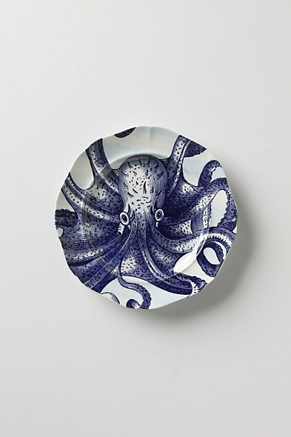 Octopus plate....Kitchens, Octopuses Plates, Beach House, Dinner Plates, Deep Salad, Housewarming Gift, Anthropologie Com, Plates Wall, Salad Plates