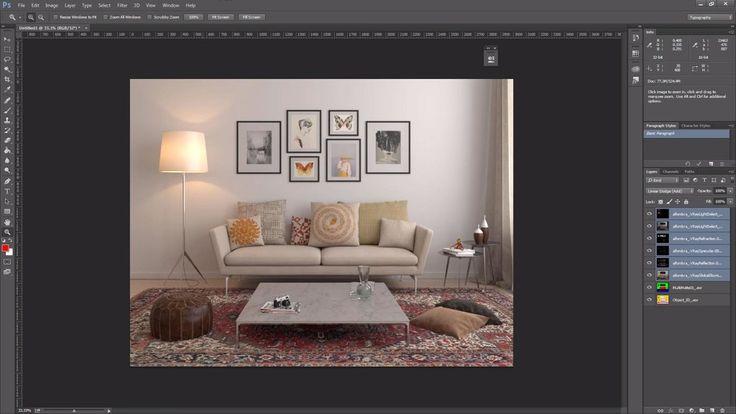 Photoshop y el uso de los VRay Render Elements