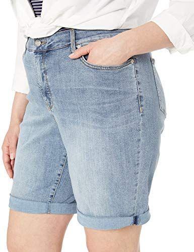 NYDJ Womens Plus-Size Plus Size Briella Roll Cuff Jean Short