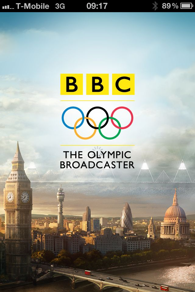 BBC Olympics App Splash Screen