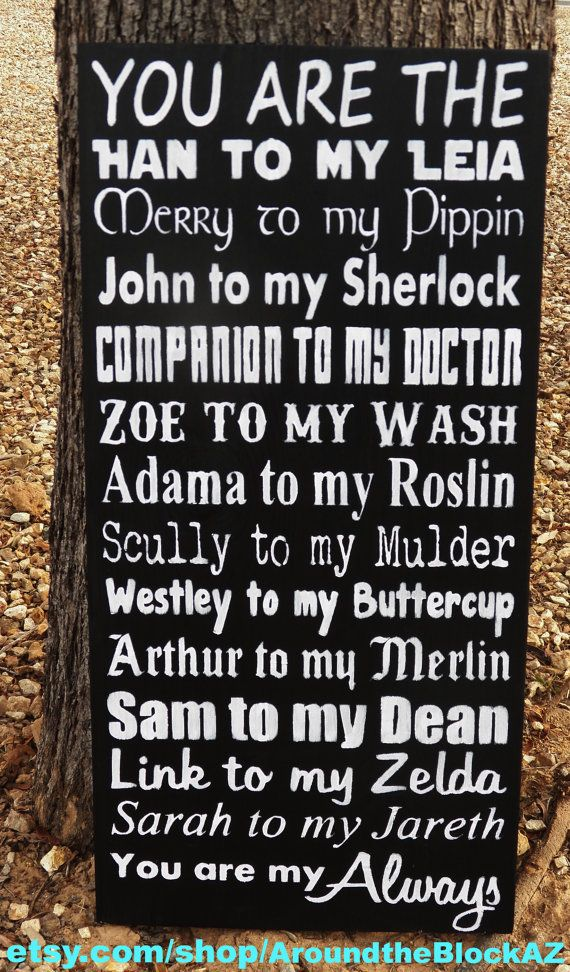 Geek Love Sign-Geek Valentine-Geek Wedding-Unusual Gift-Doctor Who-Star Wars-Supernatural-Harry Potter--Firefly/Serenity-Superwholock