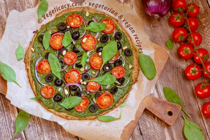 Vegan recipe: Healthy Zucchini Pizza Crust | Step-by-step recipe with photos
