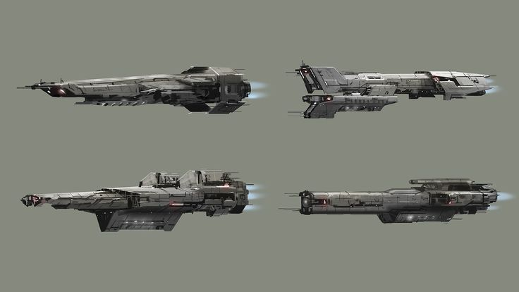 ArtStation - Spaceship design thumbnails, Galan Pang