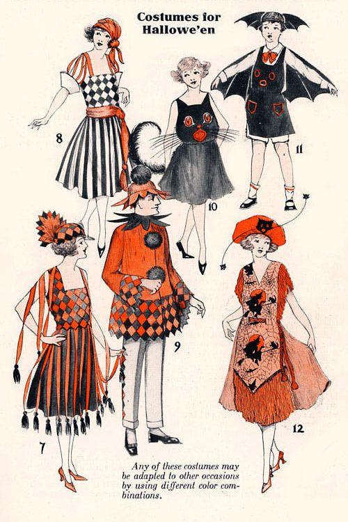 "gravesandghouls: "" Halloween Costumes in Dennison's Bogie Book, 1922 """