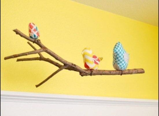 Fabric bird mobile! Love it!