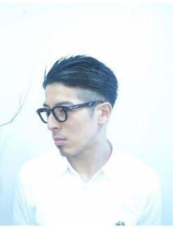 アヴィ avi harajuku ツーブロック☆七三☆黒髪