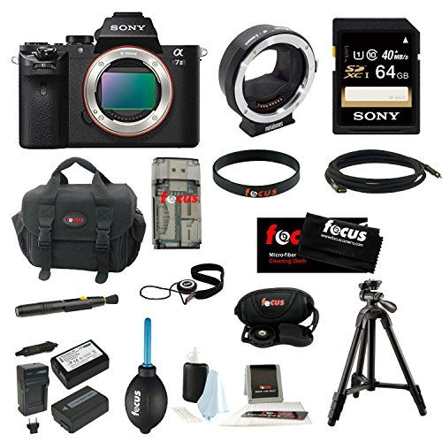 Sony Alpha a7II Body Only + Metabones Lens Adaptor + Sony 64GB SDXC Memory Card + Sony VCT-R100 Tripod + Soft Shell Camera Gadget Bag + Deluxe Accessory Kit