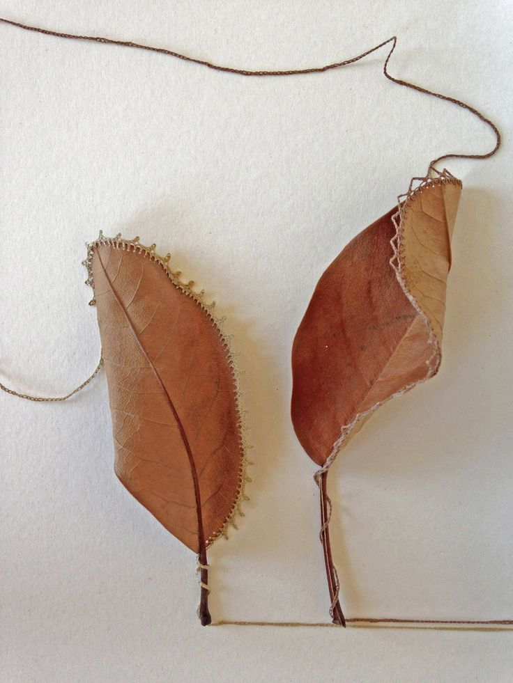 Natural Crochet Art from Susanna Bauer  Susanna Bauer born in Eichstätt, Germany in 1969, work with found natural objects: leaves, stones, pieces of wood…ephemeral things, easily overlooked and use...