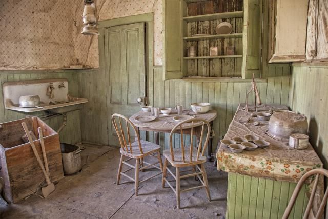 The Mother Lode of Ghost Towns: Bodie California: Abandoned Kitchen