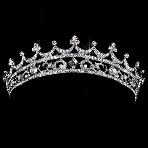 AshopZ Womens Rhinestone Wedding Bridal Party Birthday Crown Tiara Korea Palace *** Check out the image by visiting the link. #BunandCrownShapers