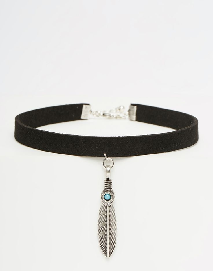 ASOS Western Feather Choker Necklace
