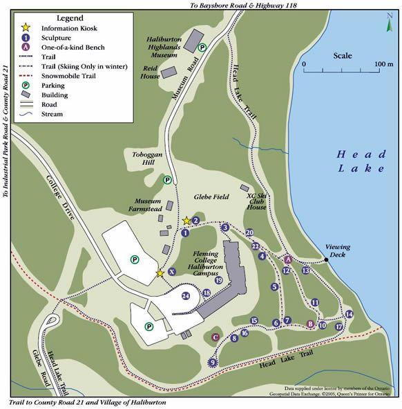 Haliburton Sculpture Forest - Forest Map
