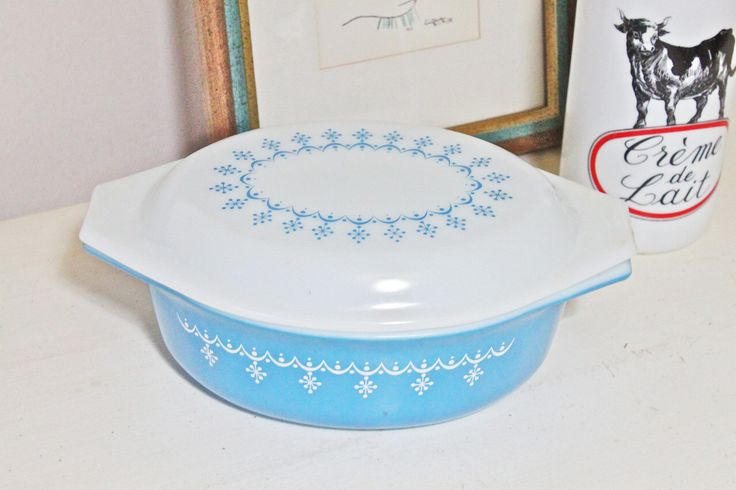 Vintage Pyrex Turquoise Blue Oval Casserole Dish with Matching Cover by MariesMaison on Etsy https://www.etsy.com/listing/100087765/vintage-pyrex-turquoise-blue-oval