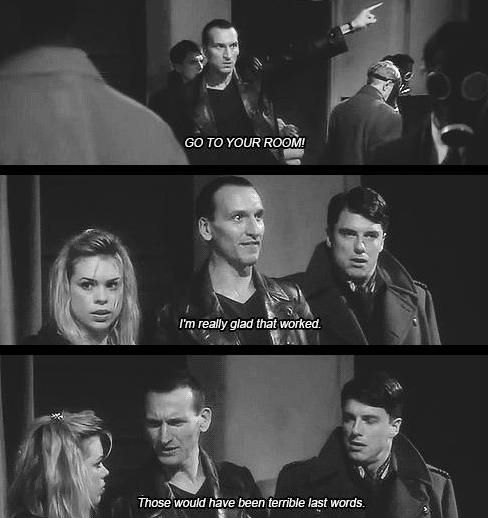 Ninth doctor very funny quote :)