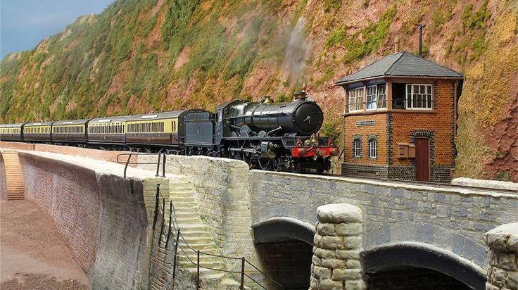 Model train at Pendon Indoor Model Village and Railways in Abingdon