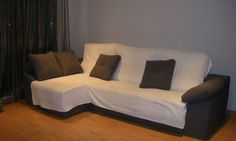 DIY: Funda para un sofá con chaise longue