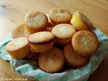 Recept - Citronmuffins byt ut ägget mot chiafrön och vatten.
