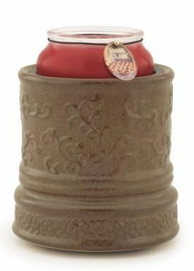 "Electric Candle Warmer - ""Electric Candle Warmer"" - Embossed Brown"
