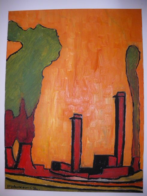 Sellafield nuclear site Oil on canvas