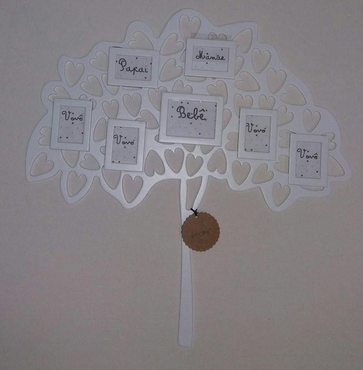 Árvore genealógica porta-retrato branca - Arteminha
