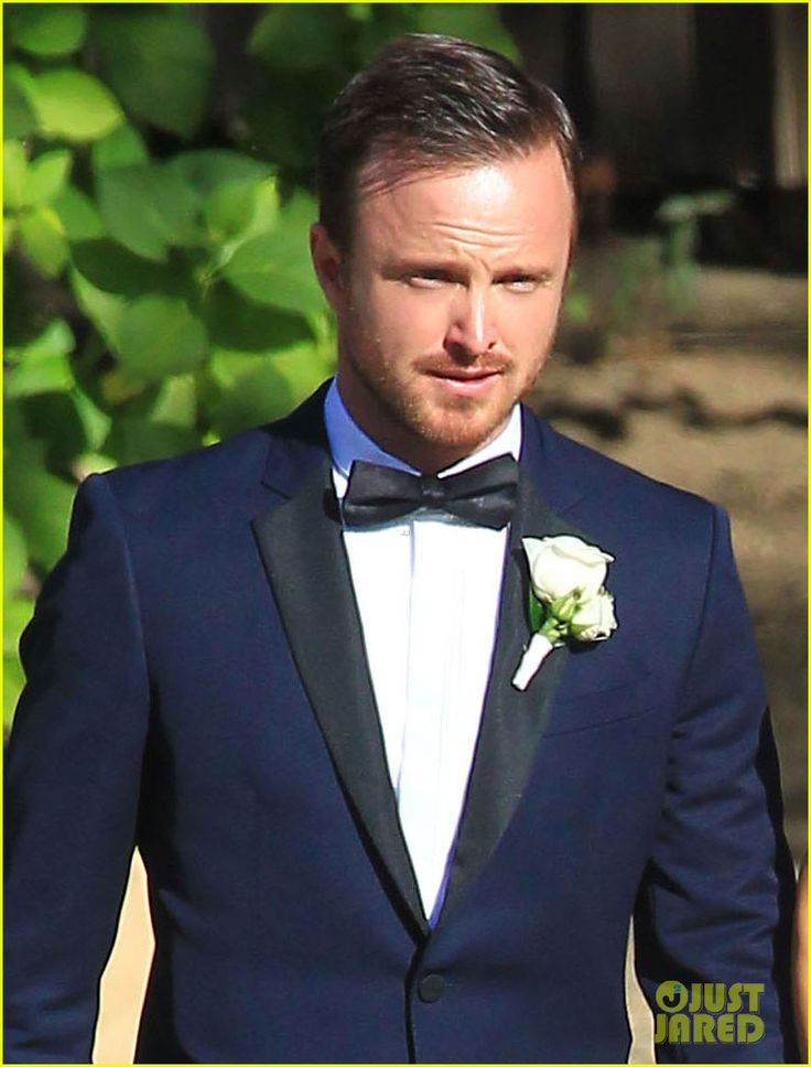 Aaron Paul's wedding tux. I'm in love with the midnight blue & black