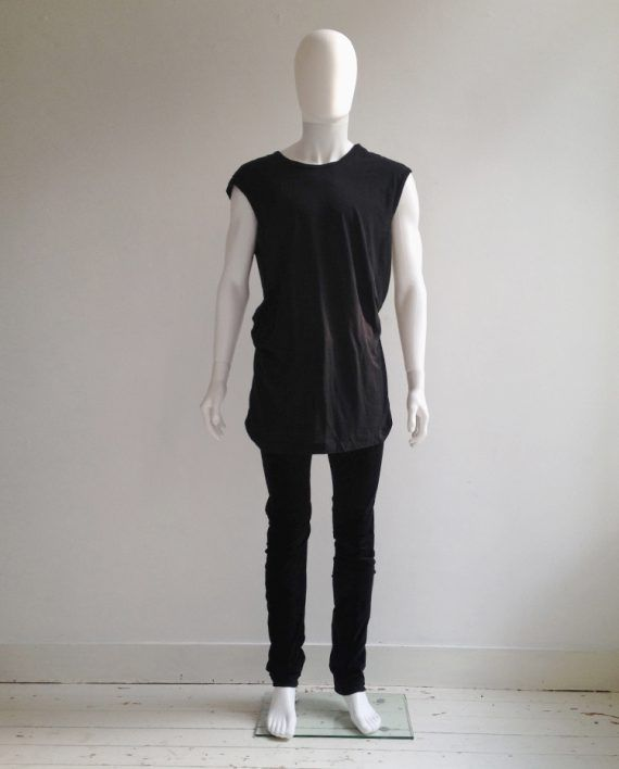Attachment Kazuyuki Kumagai black velvet curved trousers