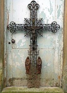French Architectural Cast Iron Cross