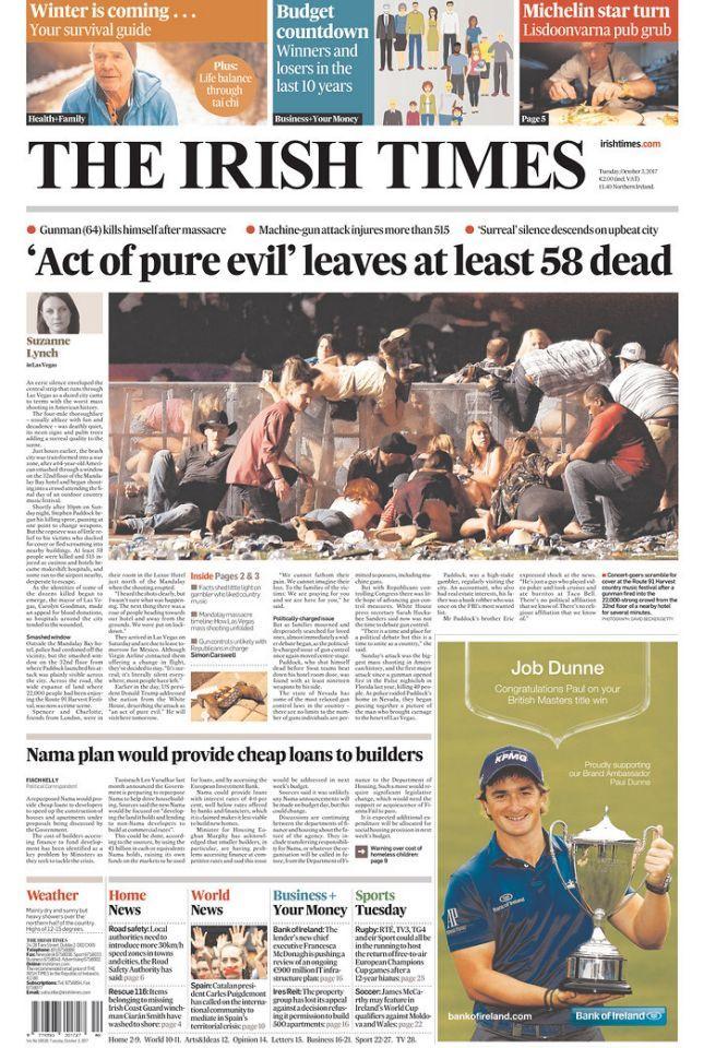 """""""The Irish Times,"""" published Dublin, Ireland. (newseum.org)"""