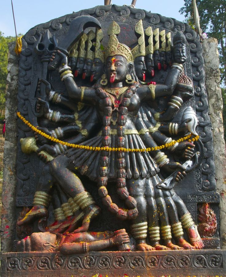 Kali, Chandeshowori Tokha temple, Nepal