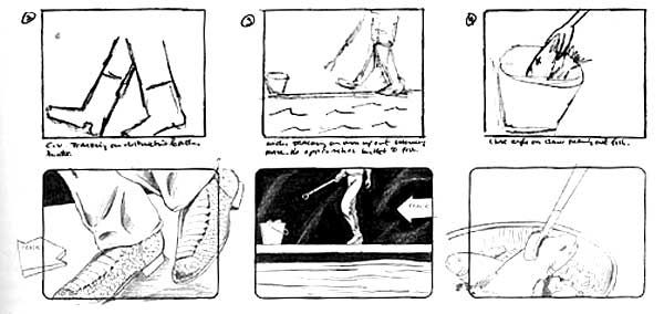 Example of a six shot storyboard