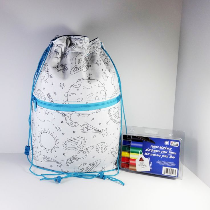 Color Me Bag - Drawstring Backpack - Drawstring Bag - Boy Bag - Cinch Sack - Backpack - Coloring Bag - School Backpack - Cinch Bag - Bag - pinned by pin4etsy.com