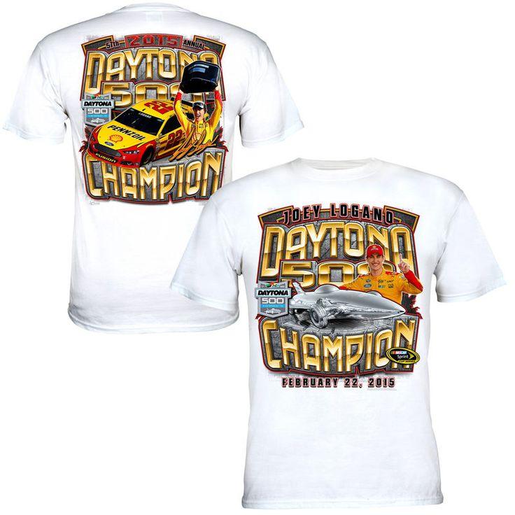 Joey Logano Chase Authentics 2015 Daytona 500 Champion Victory Lane T-Shirt - White